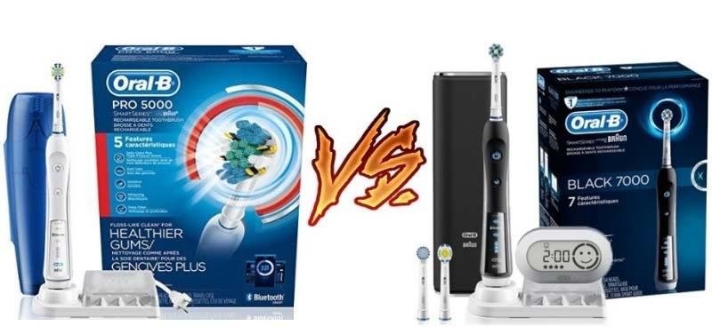 Oral B Pro 5000 vs 7000