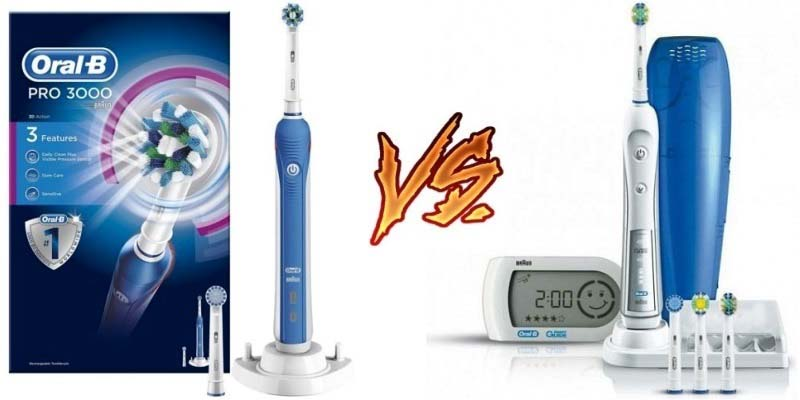 Oral-B Pro 3000 vs Oral-B Pro 5000