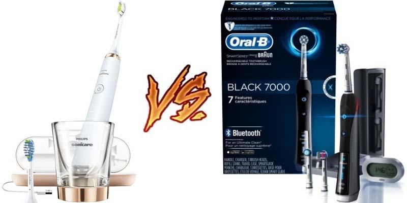 Sonicare DiamondClean vs Oral-B 7000