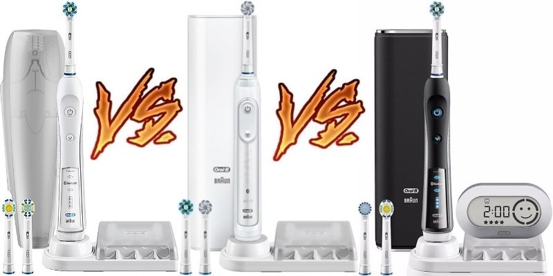 Comparing The Oral B Pro 5000 6000 Amp 7000 What S The